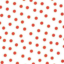 """Polka Dot"" Red on White Oilcloth"