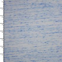 Blue on White Slubbed Jersey Knit