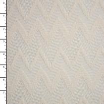 Ivory Chevron Pattern Cotton Lace