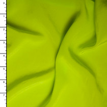 Neon Green Silk Crepe De Chine