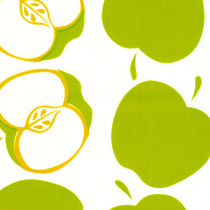 """Solvang"" Green Apples Oilcloth"