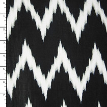 Black and White Brushstroke Chevron ITY Knit