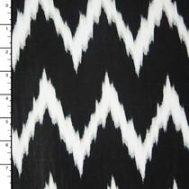 Black and White Brushstroke Chevron ITY Knit