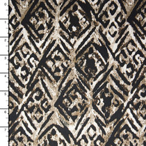 Tribal Diamonds on Tan and Brown Grunge Background Nylon/Lycra