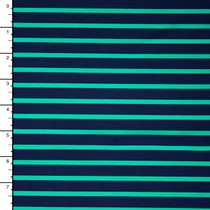 Mint and Navy Pencil Stripe Nylon/Lycra