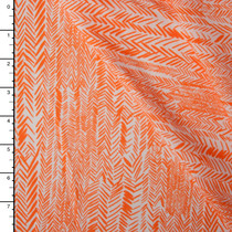 Orange on White Hand Drawn Arrows Rayon Challis