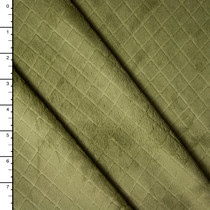 Sage Green Quilted Look Minky Solid