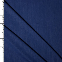Navy Blue Bamboo Stretch Jersey Knit Fabric