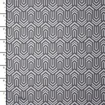 Grey and White Geometric Spandex Print #15922