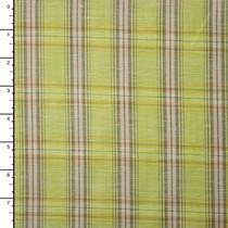 Chartreuse Plaid Linen