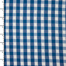 Blue Gingham Designer Seersucker