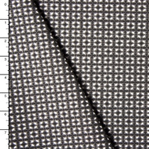 Designer Grey, Black, and White Patterned Stretch Double Knit