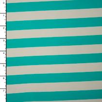 Mint and Ivory Stripe Nylon/Lycra