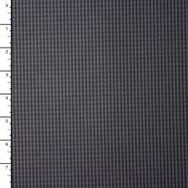 Grey and Black Mini Check Cotton Shirting