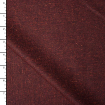 Deep Rust Heather Wool Blend Stretch Suiting