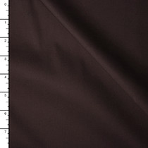 Chocolate Brown Midweight Stretch Cotton Broadcloth