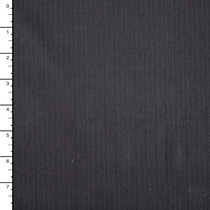 Charcoal Pinstripe Midweight Stretch Brushed Twill