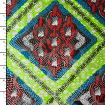Metallic African Print Cotton #16253