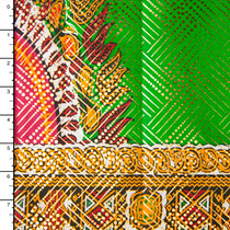 Metallic African Border Print Cotton #16258