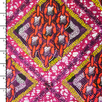 Metallic African Print Cotton #16256
