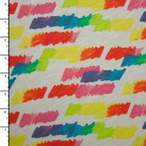 Ombre Brushstrokes Slubbed Cotton Jersey Knit