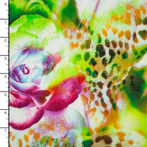 Jungle Rose Abstract Rayon Challis