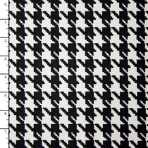 Black and White Houndstooth Nylon/Lycra Print