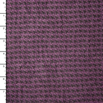 Plum and Black Houndstooth Lightweight Sweater Knit