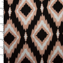 Espresso Ikat Diamond Stretch Jersey Print