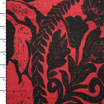 Grunge Black Floral Scrollwork on Wine Ponte De Roma