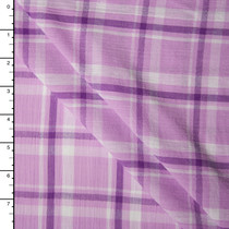 Lavender Plaid Cotton Gauze