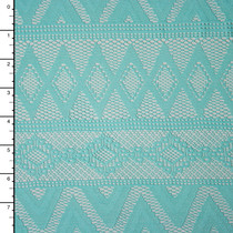 Aqua Tribal Stretch Lace