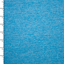 Bright Sky Blue Heather Brushed Stretch Knit