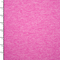 Hot Pink Heather Brushed Stretch Knit
