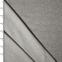 Light Heather Grey 4-way Stretch French Terry