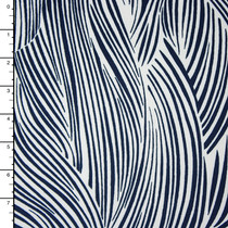 Navy and White Layered Waves ITY Print