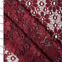 Wine Daisies Floral Lace