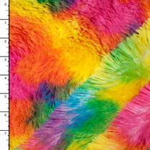 Neon Blotch Soft Shaggy Cuddle Fur