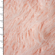 Blush Curly Yak Luxury Faux Fur