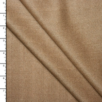 Tan Herringbone Fine Brushed Wool Suiting