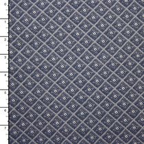 Diamond Pattern Stretch 8oz. Denim