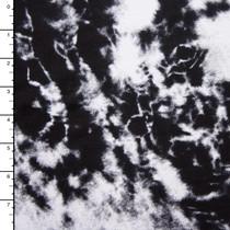 Black and White Tie Dye Grunge Look Jersey Print