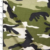 Camouflage Print Rayon Jersey Knit