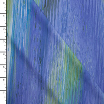 Light Blue, Sage, and Periwinkle Swirl Print Nylon/Lycra