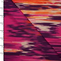Hot Pink and Orange Abstract Print Nylon/Lycra