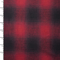 "Red and Black Plaid 45"" Flannel"