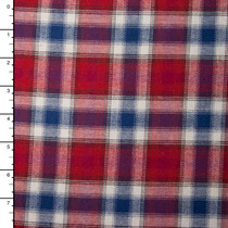 "Red, White, and Blue Plaid 45"" Flannel"