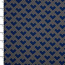 Black, White, and Blue Heart Dot Nylon/Lycra Print