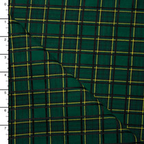 Forest Green and Black Traditional Plaid Suiting
