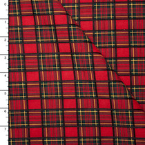 Red, Black, and Green Traditional Plaid Suiting